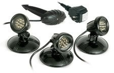 3 Pack Led Pond light, 12 Volt, 1.6 Watts