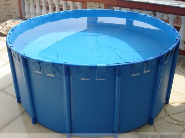 Foldable Round Koi Show Tank -,78.7 x 31.5-in  [663 gal.]  Vinyl Liner Liner is UV resistant