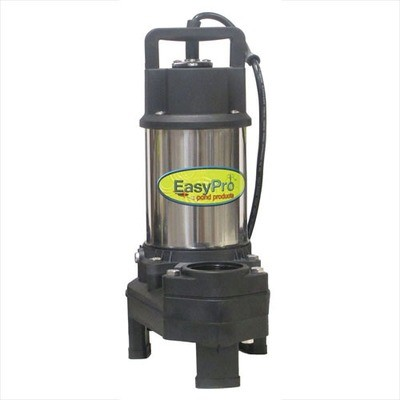 EasyPro - 6000 GPH - 115 Volt - Stainless Steel Waterfall and Stream Pump - 20ft Power Cord -