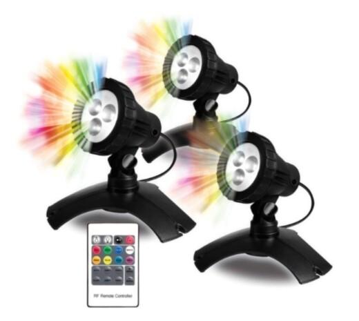 POND MAX Large Color Changing LED 3 Light Kit