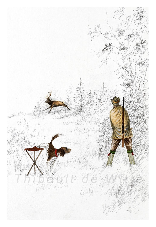 Chasseur et Cerf
