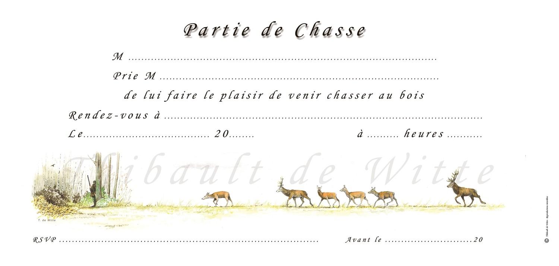 Invitations Chasse au Bois VI
