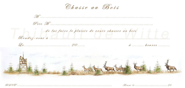 Invitations Chasse au Bois I