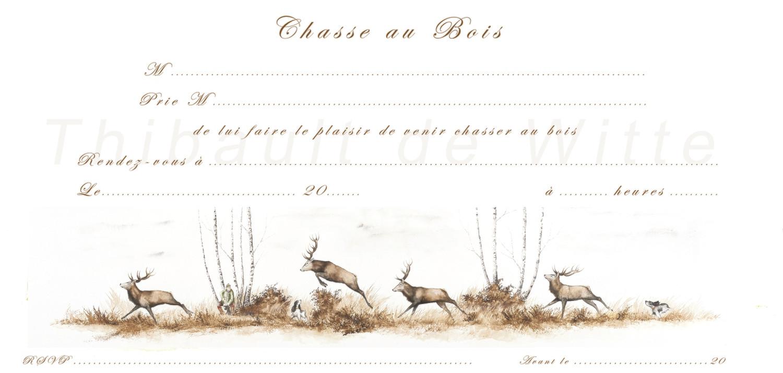 Invitations Chasse au Bois IV