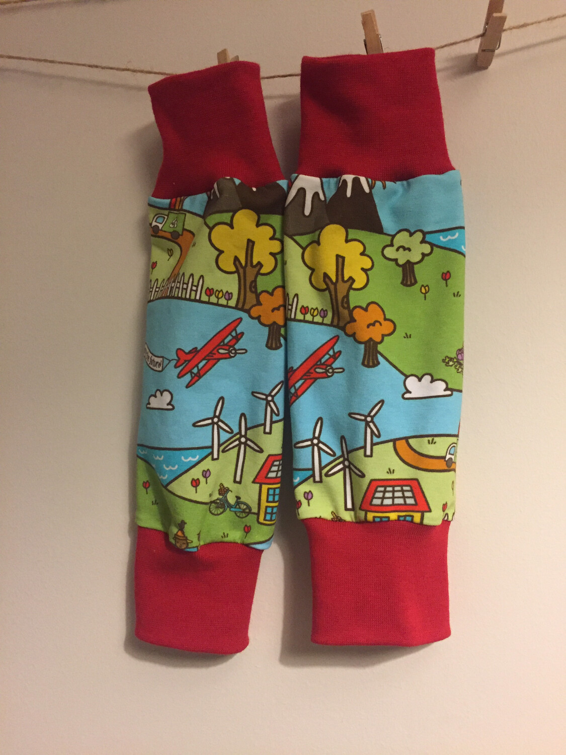 Mountains and Sea Baby Leg Warmers - alternative cuffs available