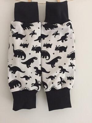 Light Grey Dinosaur Baby Leg Warmers - alternative cuffs available