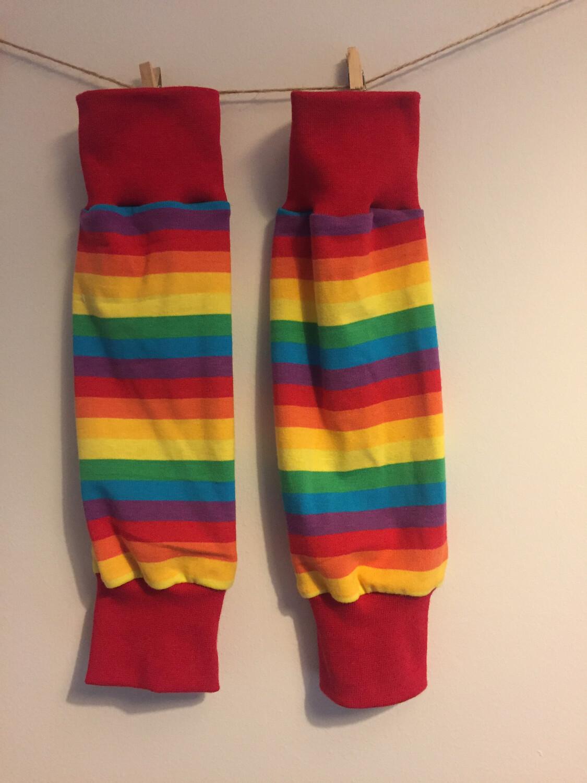 Rainbow Stripe Leg Warmers - alternative cuffs available