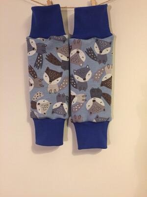 Light Blue Foxes Alpine Fleece Leg Warmers - alternative cuffs available