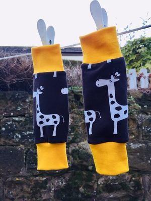 Brown Giraffe Baby Leg warmers - alternative cuffs available