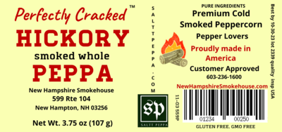 Hickory Smoked Peppa Whole peppercorn 3.75oz Table size
