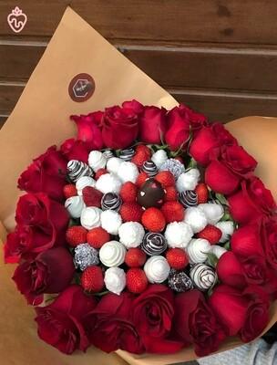 მარწყვი & ვარდები დიდი | Strawberries & Roses Large