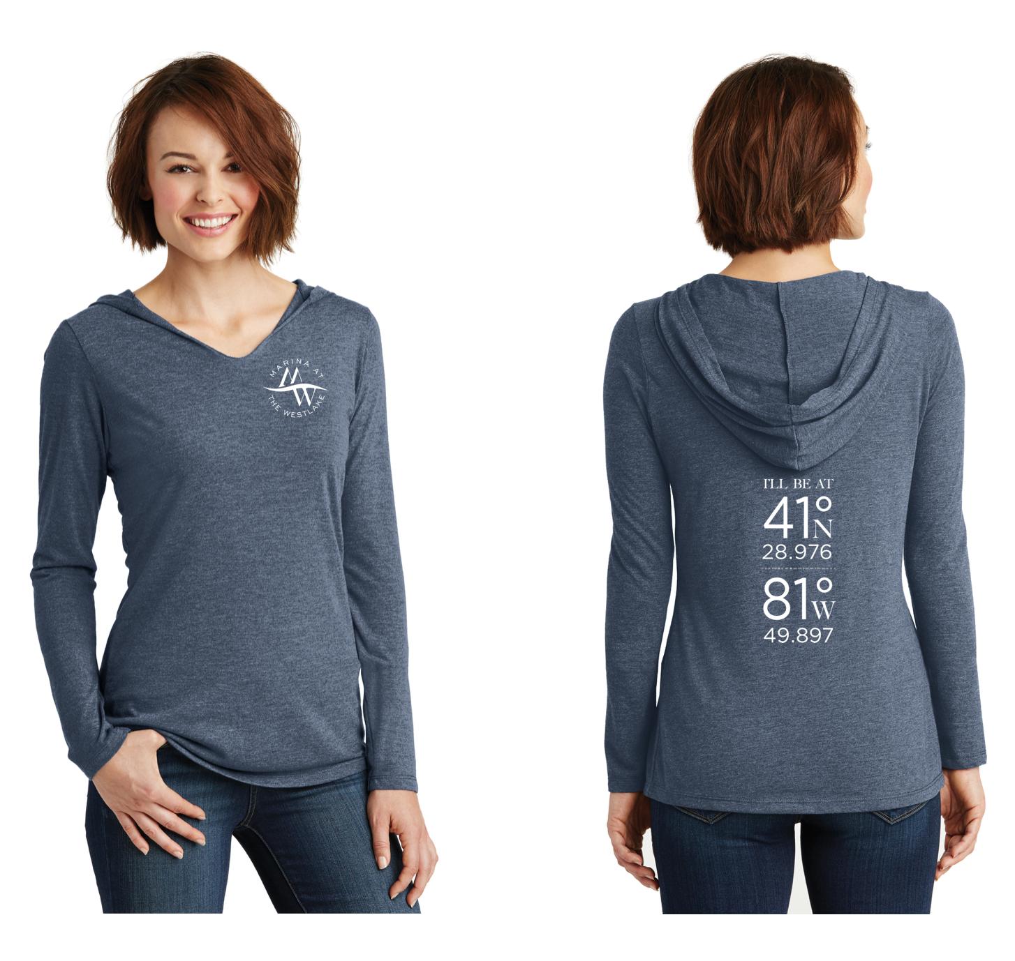 Ladies Long-Sleeve Hooded Shirts