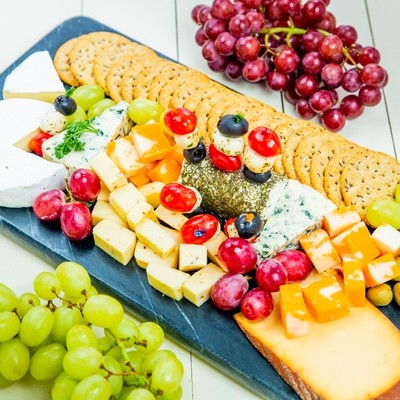 Golden Cheese and Cracker Platter