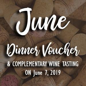 June Wine Tasting Dinner Voucher