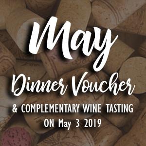 May Wine Tasting Dinner Voucher