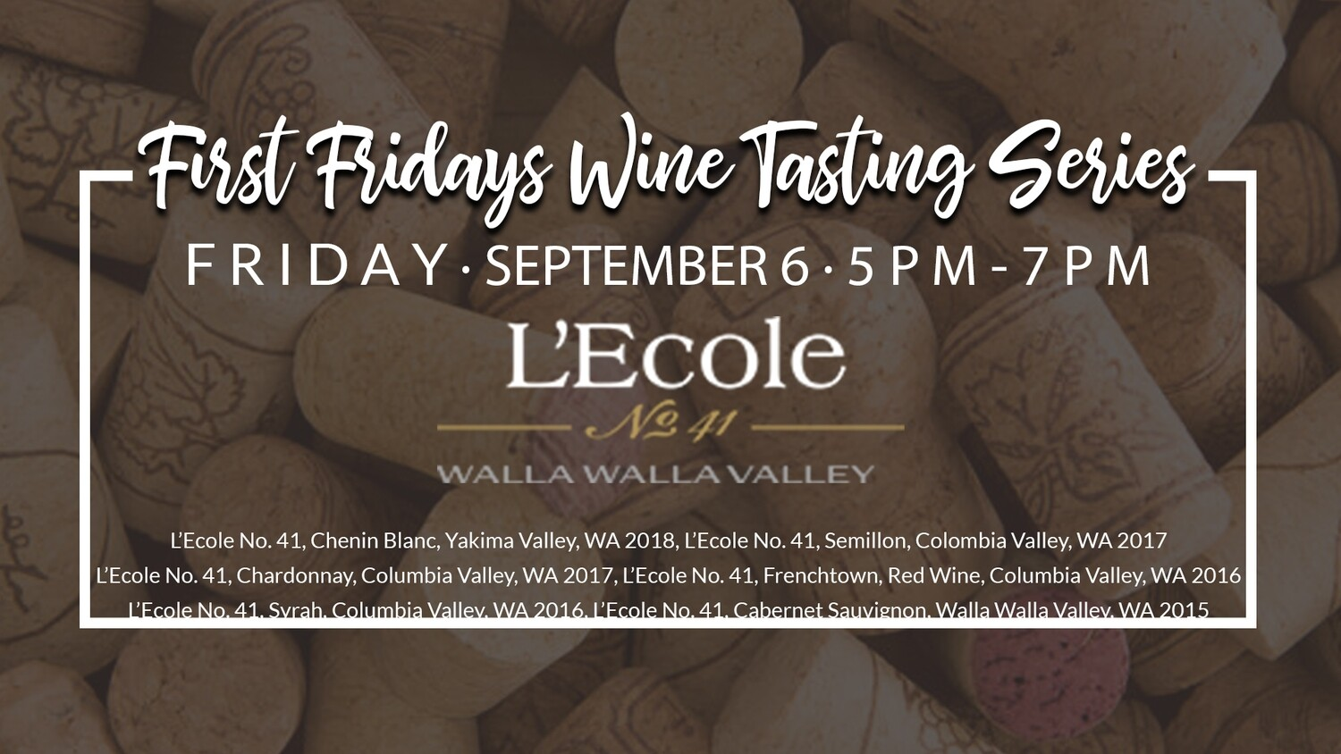 September Wine Tasting Ticket