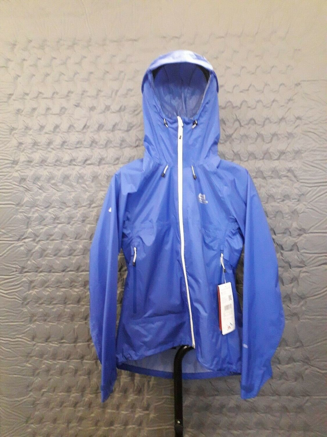 MOUNTAIN EQUIPMENT WOMEN'S VECTOR WATERPROOF JACKET CELESTIAL BLUE SIZE 12