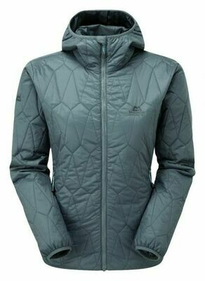 MOUNTAIN EQUIPMENT WOMEN'S RAMPART HOODED JACKET MOORLAND SLATE 12