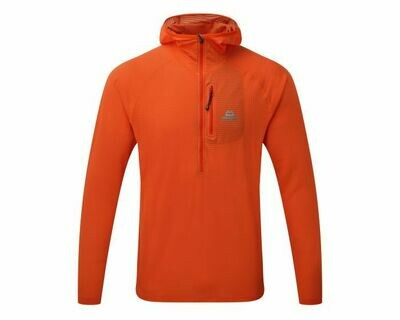 MOUNTAIN EQUIPMENT SOLAR ECLIPSE HOODED ZIP TEE ORANGE LARGE