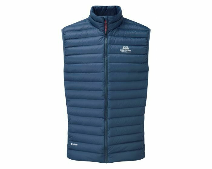 MOUNTAIN EQUIPMENT ARETE VEST DENIM BLUE LARGE NEW