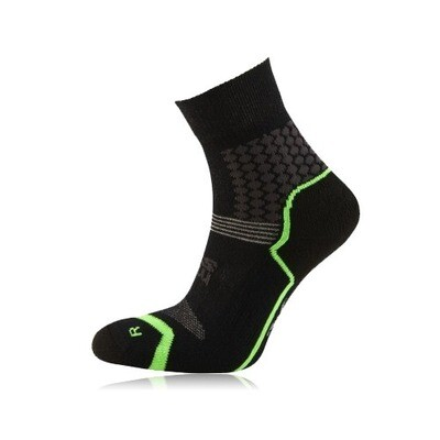 HILLY VISTA ANKLET SOCKS MEDIUM 6-8.5 CHARCOAL/FLUO YELLOW COSMETIC SECONDS