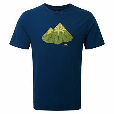 MOUNTAIN EQUIPMENT POLYGON TEE MARINE LARGE NEW
