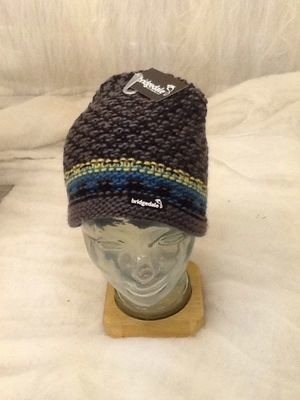 BRIDGEDALE BEANIE HAT GREY/BLACK NEW