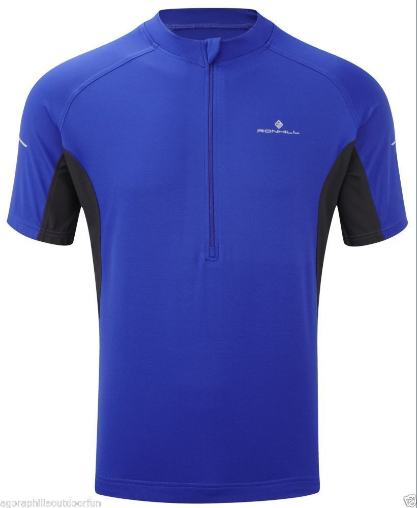 RONHILL MEN'S BIKE SS ZIP TOP ROYAL BLUE MEDIUM