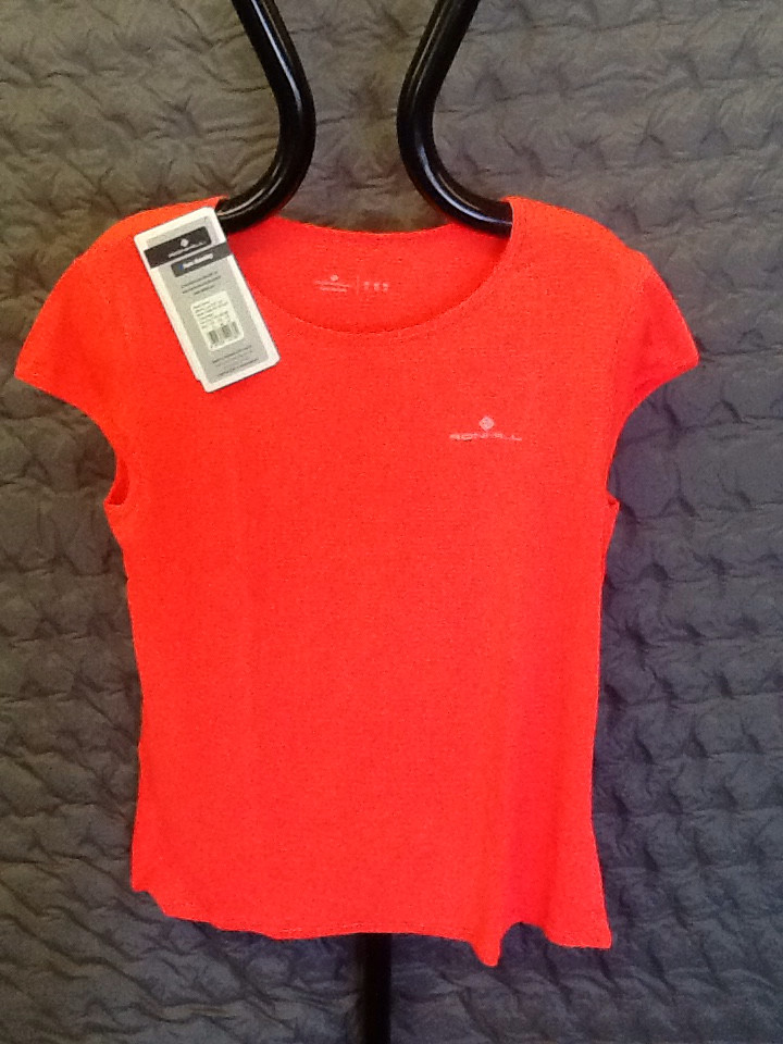 RONHILL WOMEN'S LUX SHORT SLEEVE TEE HOT CORAL 12