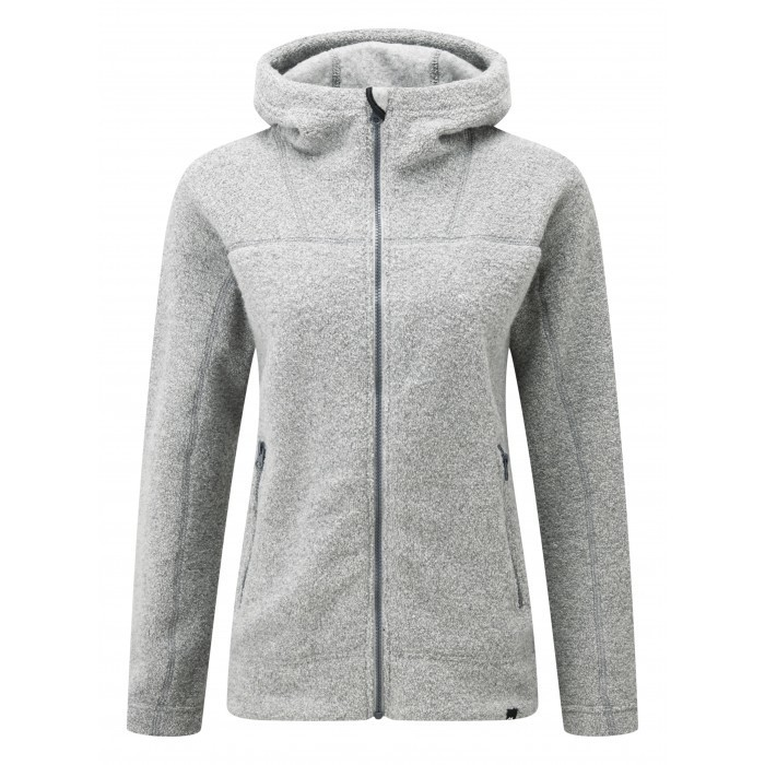 MOUNTAIN EQUIPMENT OATMEAL WOMEN'S HOODED FLEECE JACKET NIMBUS 12