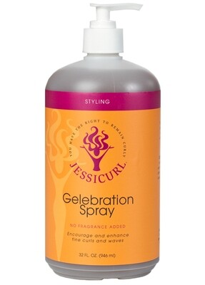 Jessicurl Gelebration Spray No Fragrance Added 946ml (32oz)