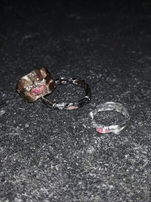 FRACTURED OPAL RING PEACH