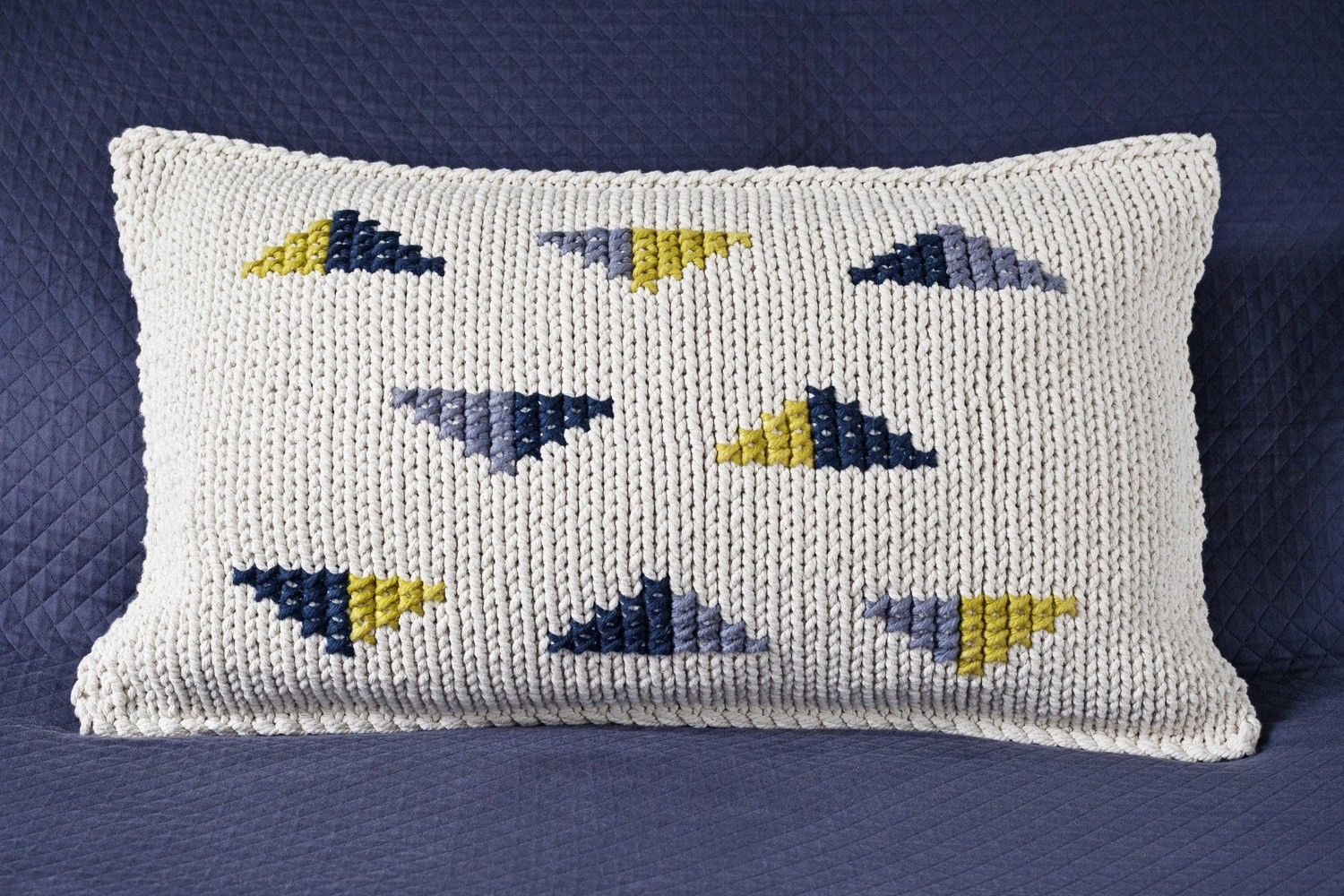 Triangles - Grey, Indigo, Chartreuse - from
