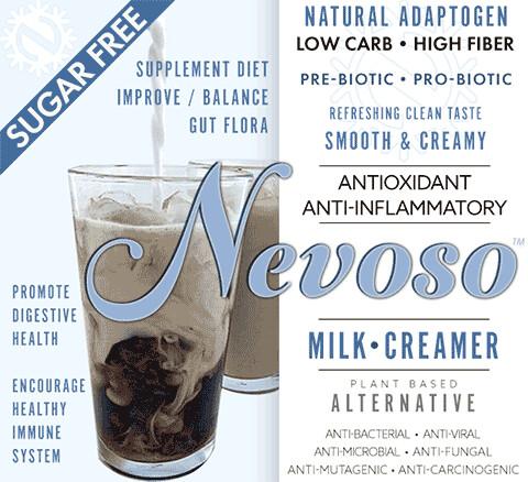 Nevoso - DR12 - 12g+  Dietary Fiber per serving - makes one quart (1 pack)  Dairyfree Milk/Creamer Alternative