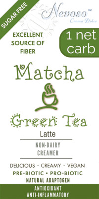 Matcha Green Tea - Only 1 net carb - Sugar Free -  DariFree Smooth and Creamy Latte