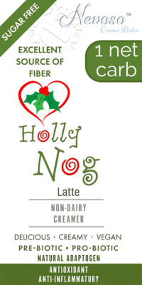 Holly Nog     - Only 1 net carb - Sugar Free -  DariFree Sweet Creamer
