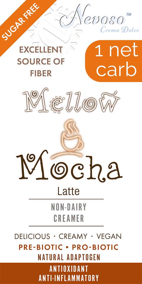 - Mellow Mocha - NEVOSO 1 Net Carb ANTI-Viral -BOOST IMMUNE SYSTEM-  Anti-inflammatory - Antioxidant - NON-Dairy Creamer - Sugar Free - DariFree - Smooth and Creamy VEGAN KETO
