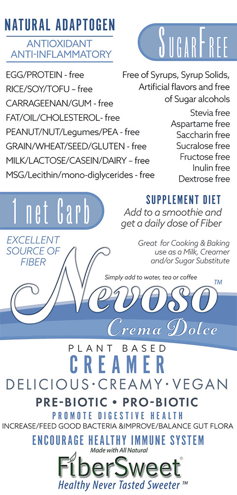 DRSC - Crema Dolce - Only 1 net carb - (12packs) - Sugar Free -  DariFree - Sweet Creamer
