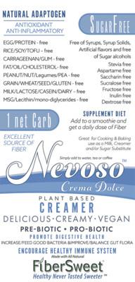 Crema Dolce -1 Net Carb- (4-6 cups milk)    -FREE SHIP- -BOOST IMMUNE SYSTEM-  Anti-inflammatory Antioxidant AntiViral -NON-Dairy Creamer - Sugar-Free -FREE SAMPLE PACK Promo Code: