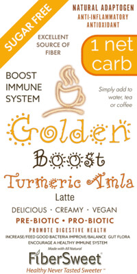 -- GOLDEN BOOST  -- Turmeric  Amla Latte NEVOSO 1 Net Carb ANTI-Viral -BOOST IMMUNE SYSTEM-  Anti-inflammatory - Antioxidant - NON-Dairy Creamer - Sugar Free - DariFree - Smooth and Creamy VEGAN KETO