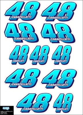 R/C Number Decal Sheet