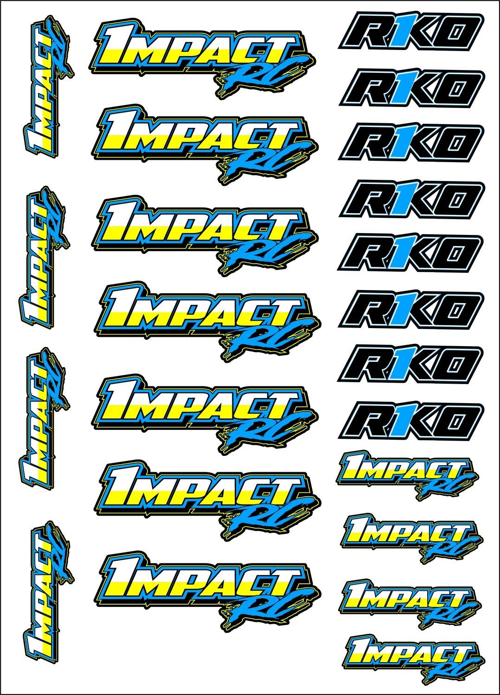 Impact RC Decal Sheet