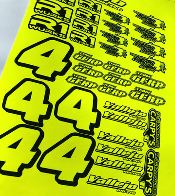 Fluorescent Sponsor Decal Sheet