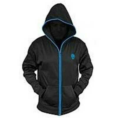 Mobile Edge AWSHZG1XXL Zip Up Glow Hoodie - XXL - Black