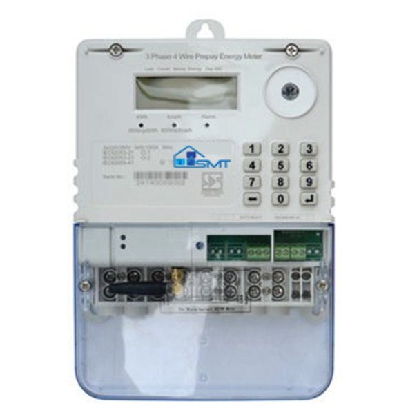 3 Phase Meter (100A per Phase) with Optional GPRS Functionality and UIU (User Interface Unit / Keypad)