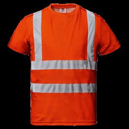 """Warnschutz - T-Shirt """"Mistral"""" orange"""