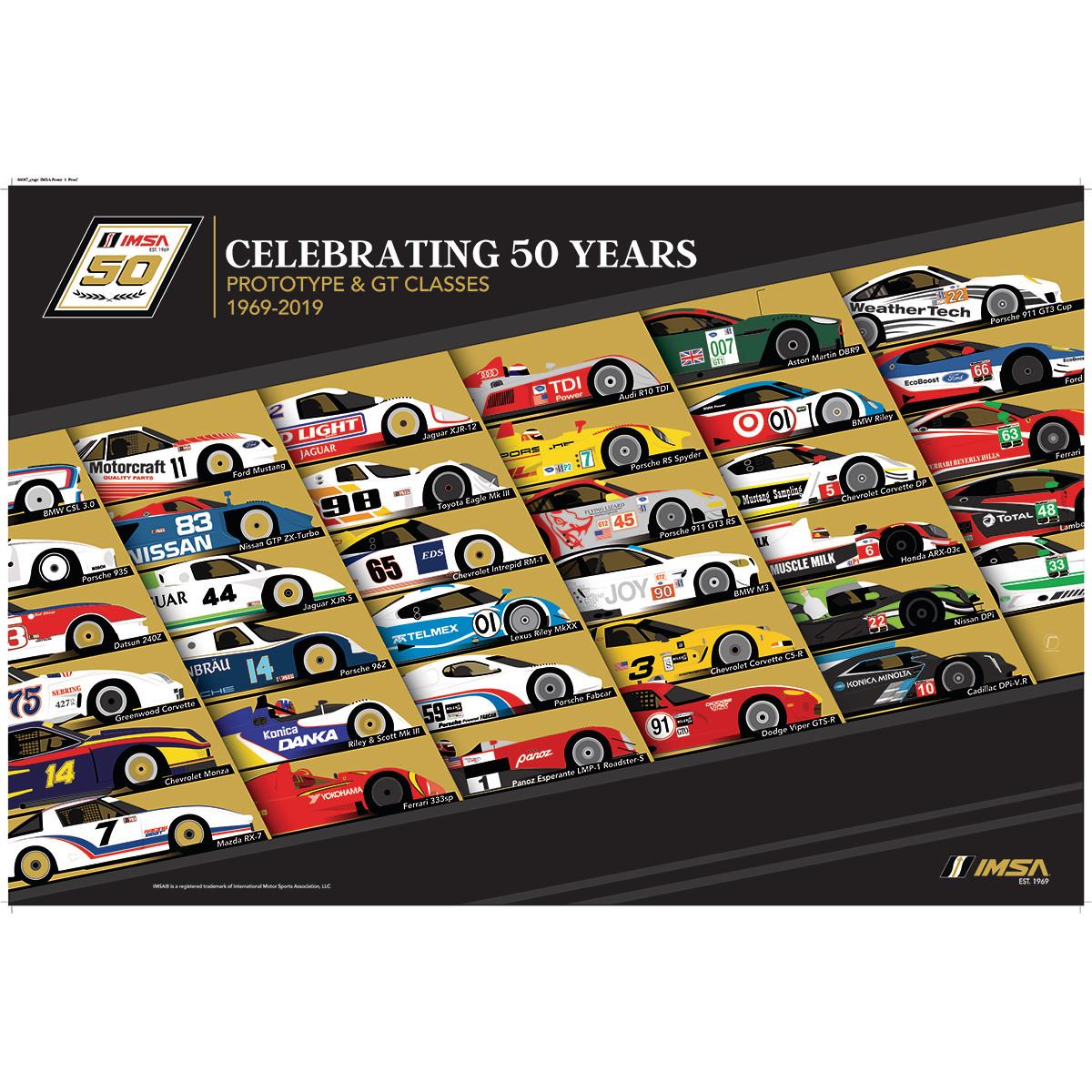 50th IMSA Past Cars Poster