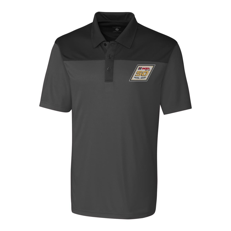 IMSA 50th Clique Parma Colorblock Polo - Black/Grey
