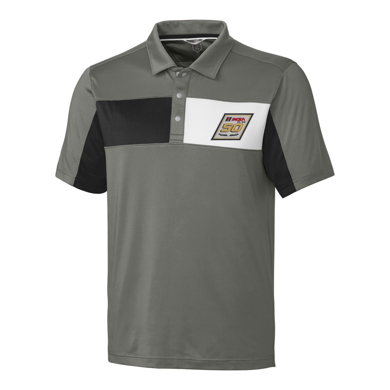 IMSA 50th CBuck Logan Polo - Grey/Black/White