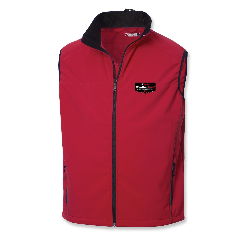 WeatherTech Clique Softshell Vest- Intense Red